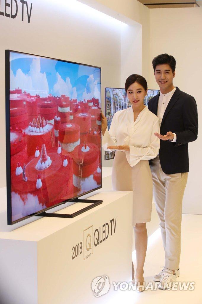 국내 첫 공개된 삼성 '2018년형 QLED TV'