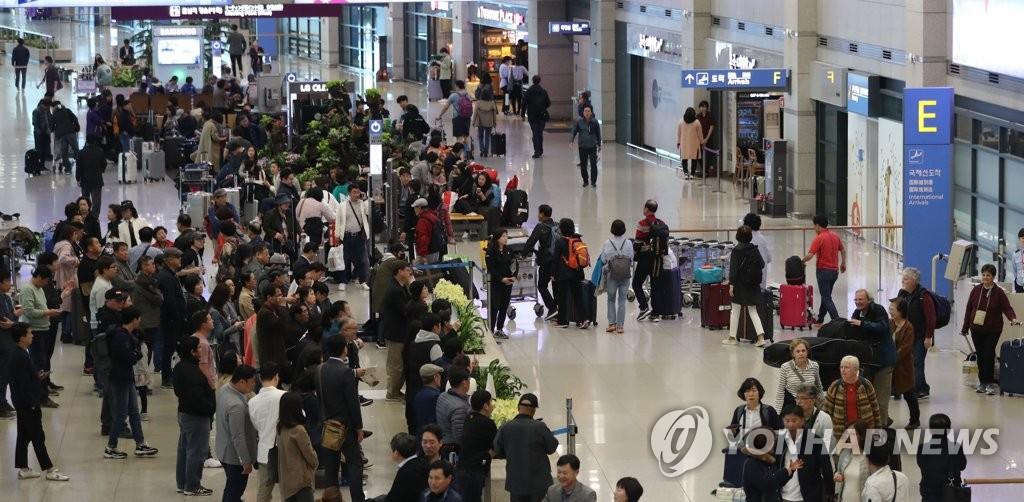 2018年仁川机场外国入境者创新高