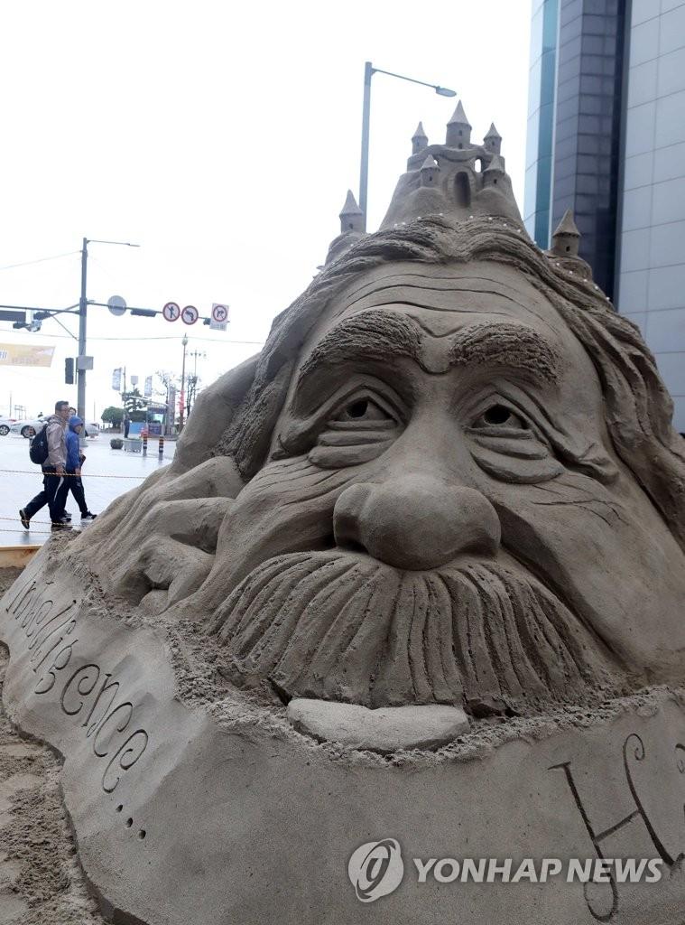 海云台沙雕节作品