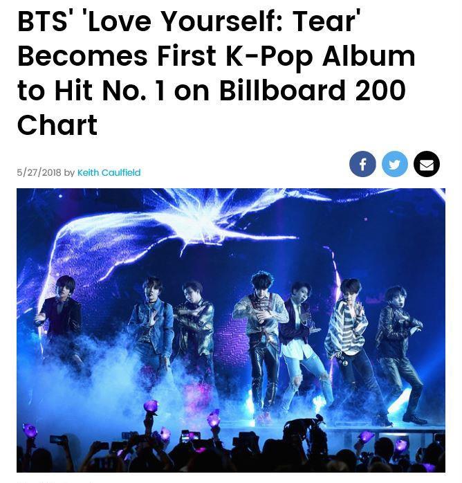 BTS登顶公告牌改写韩歌史