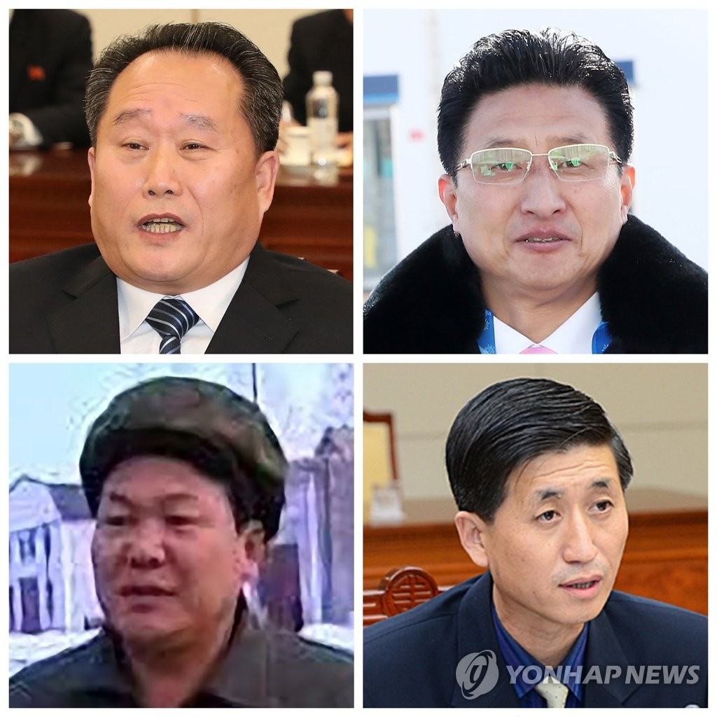 韩朝高级别会谈朝方代表团成员