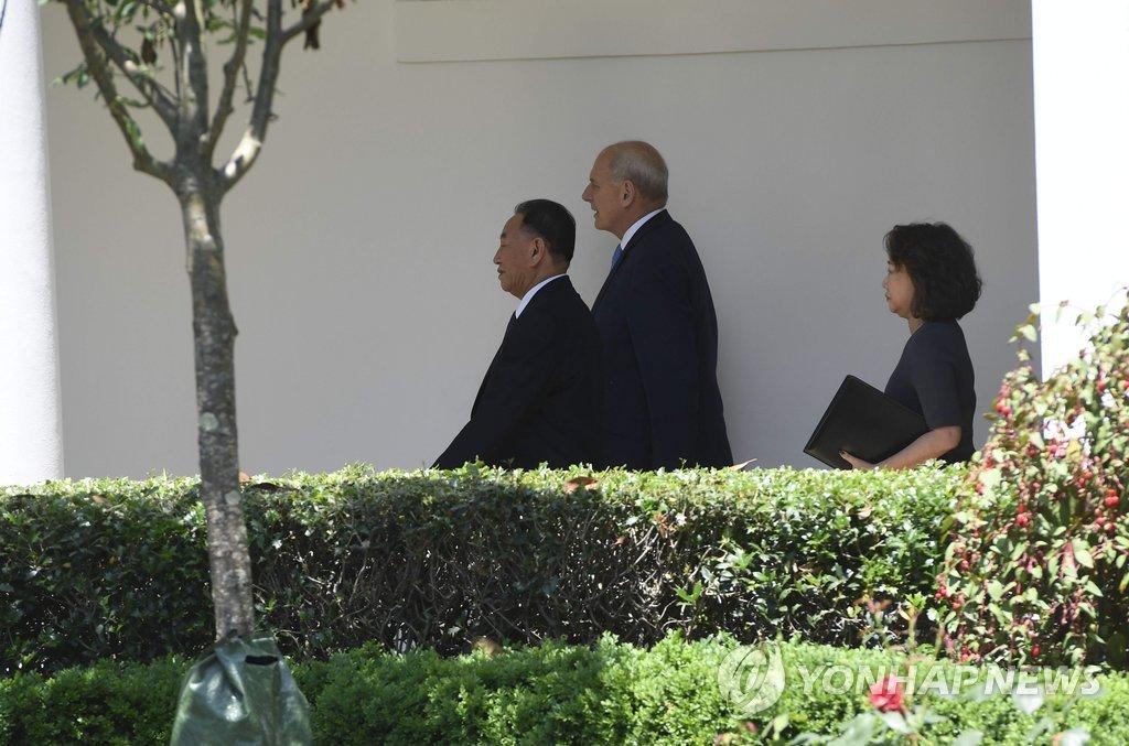 金英哲拜访白宫