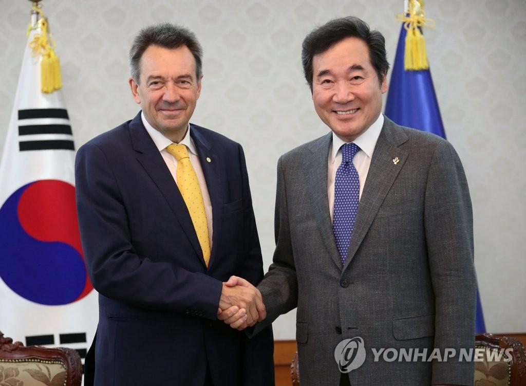 韩总理会见红十字国际委员会主席