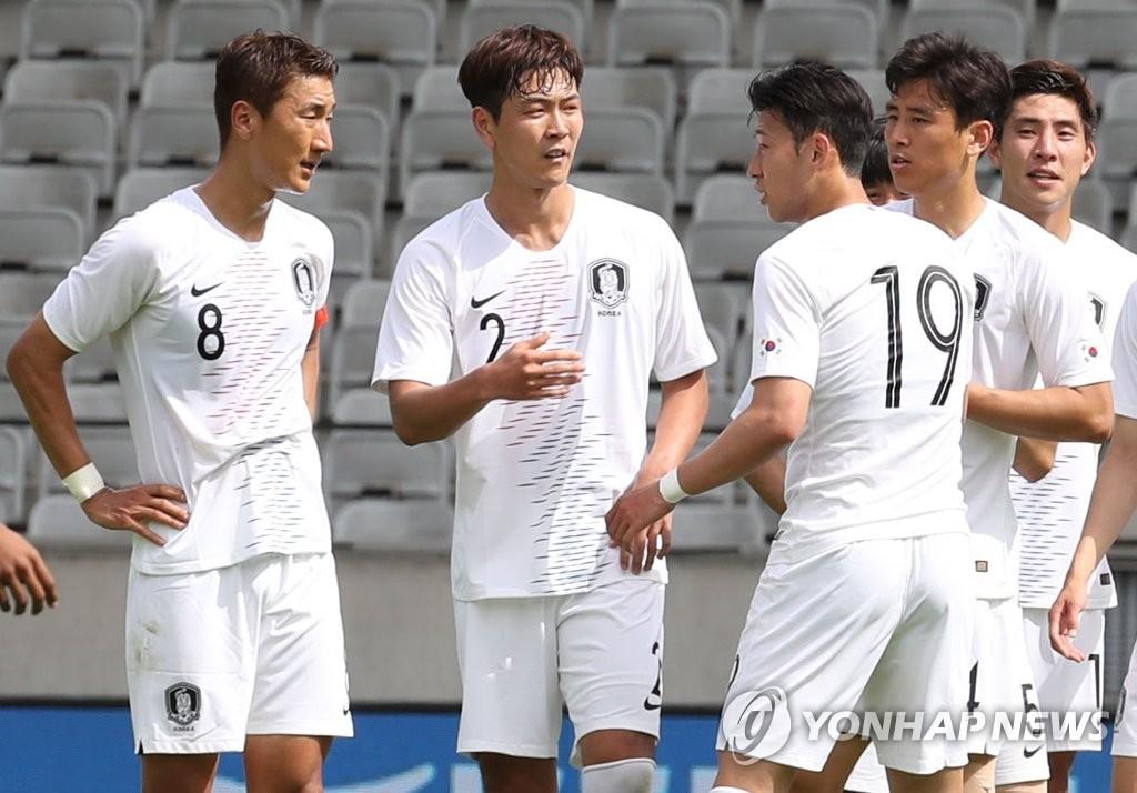 世界杯热身赛:韩国战平玻利维亚
