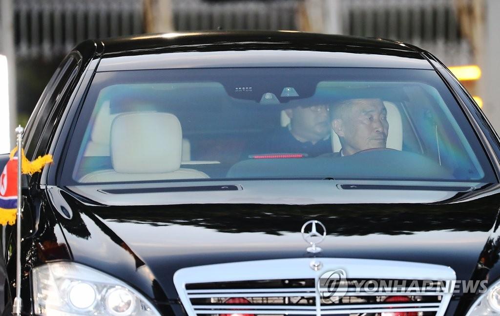 金正恩离开新加坡总统府