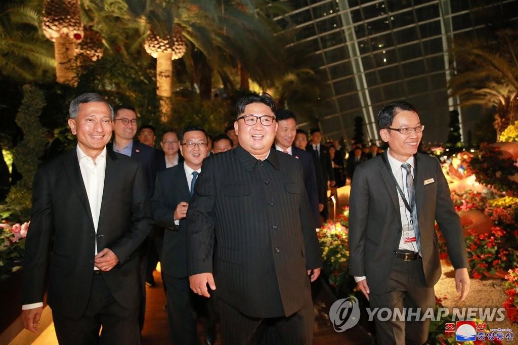 朝媒报道金正恩夜游新加坡