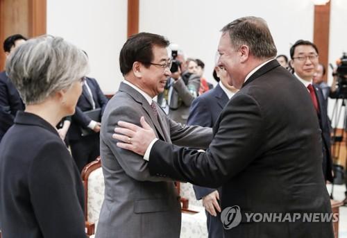 韩情报首长上周访美协调朝美高级别会谈