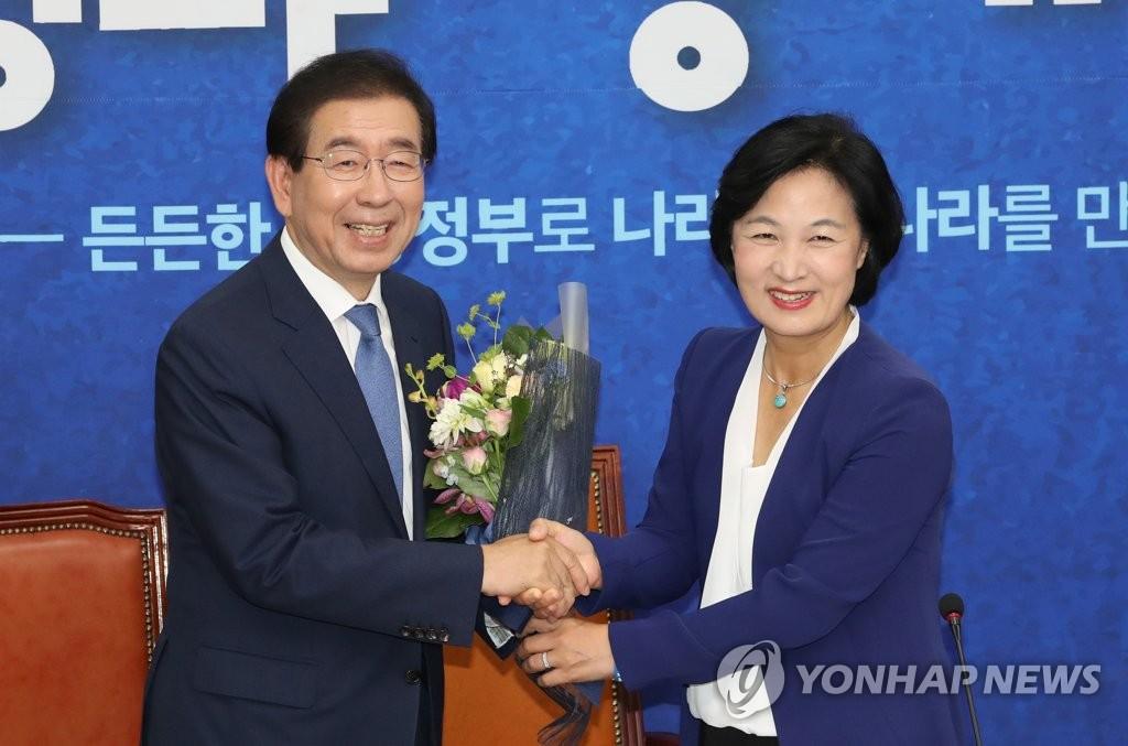 朴元淳连任首尔市长