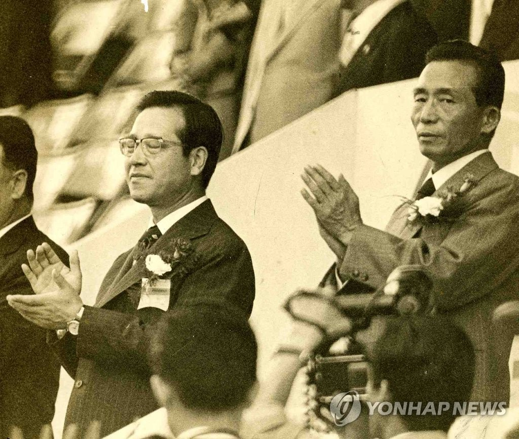 韩已故前总理金钟泌旧照