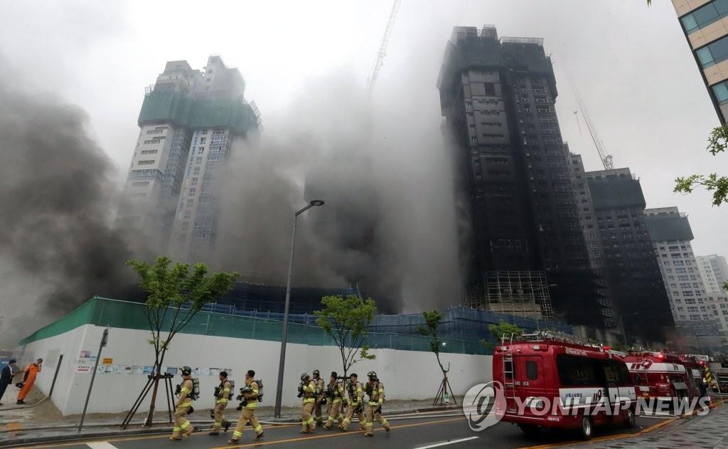 韩消防部门:建筑工地火灾原因系油蒸汽爆燃