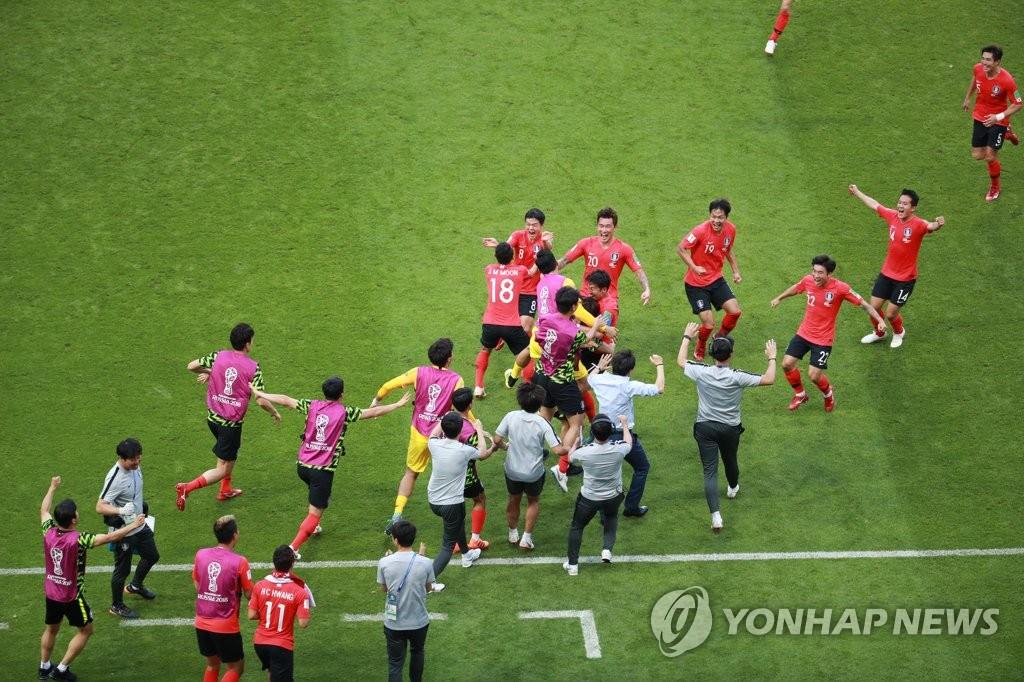 韩国2比0大胜德国