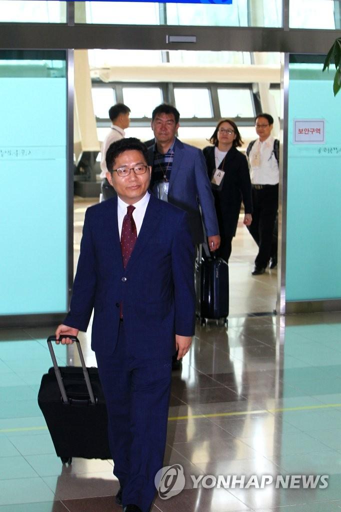 离散家属团聚活动韩方考察团返回