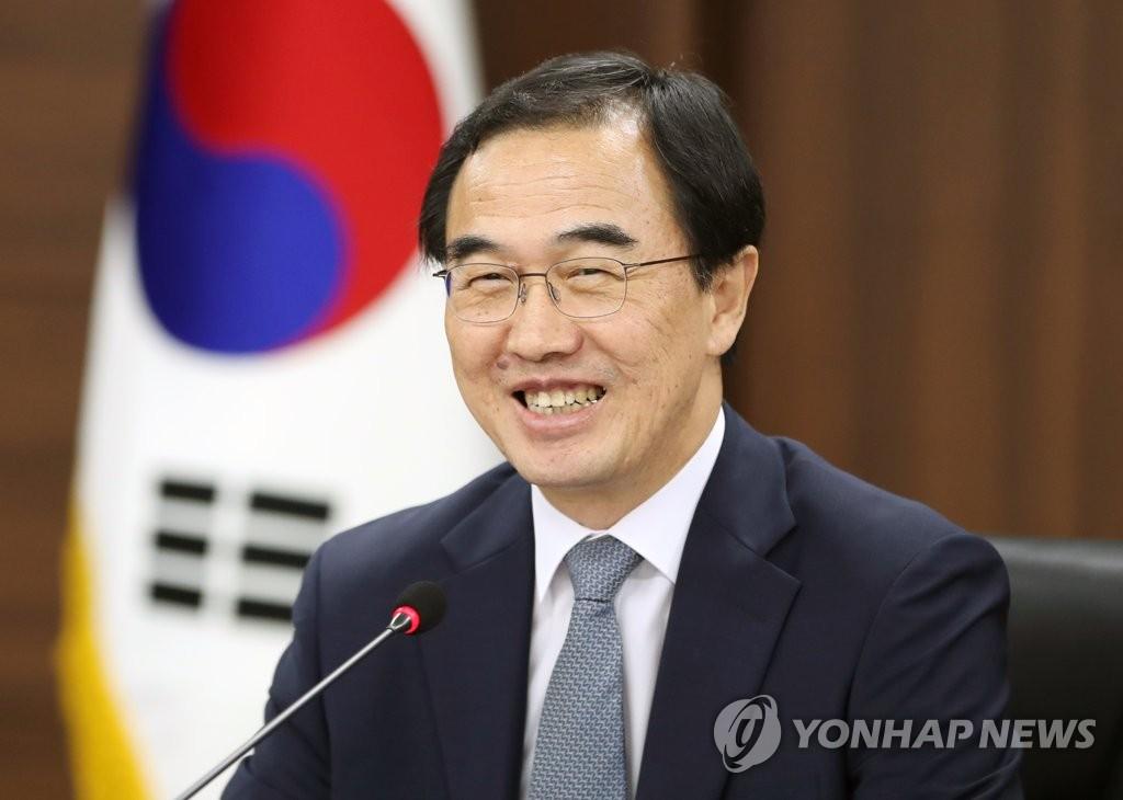 韩统一部长官:将访朝讨论平壤宣言落实方案
