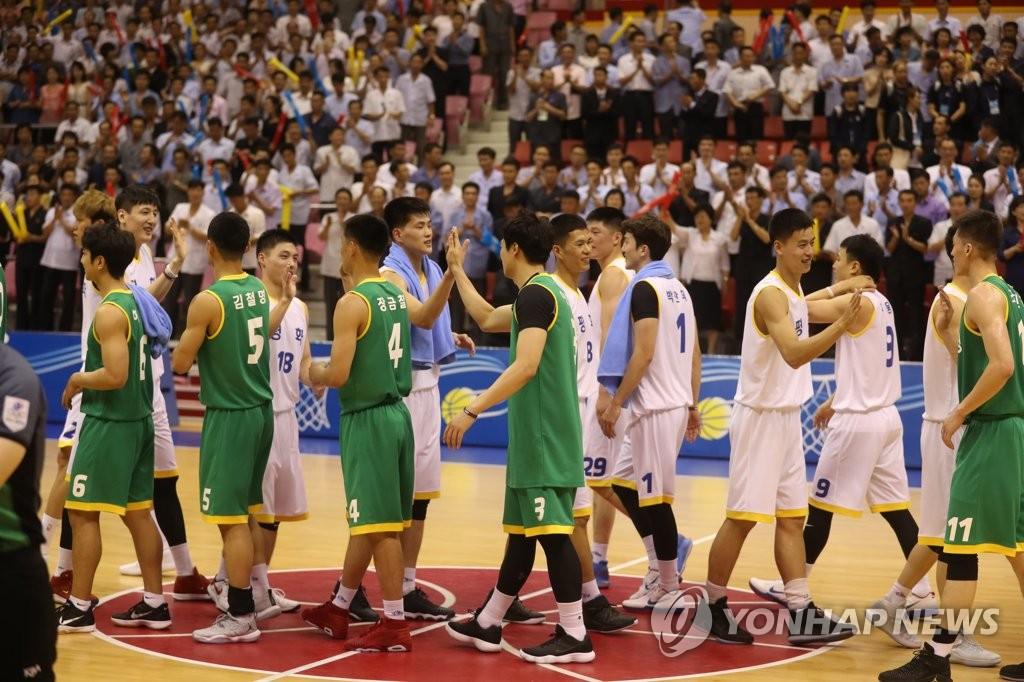 韩朝选手赛后互致敬意