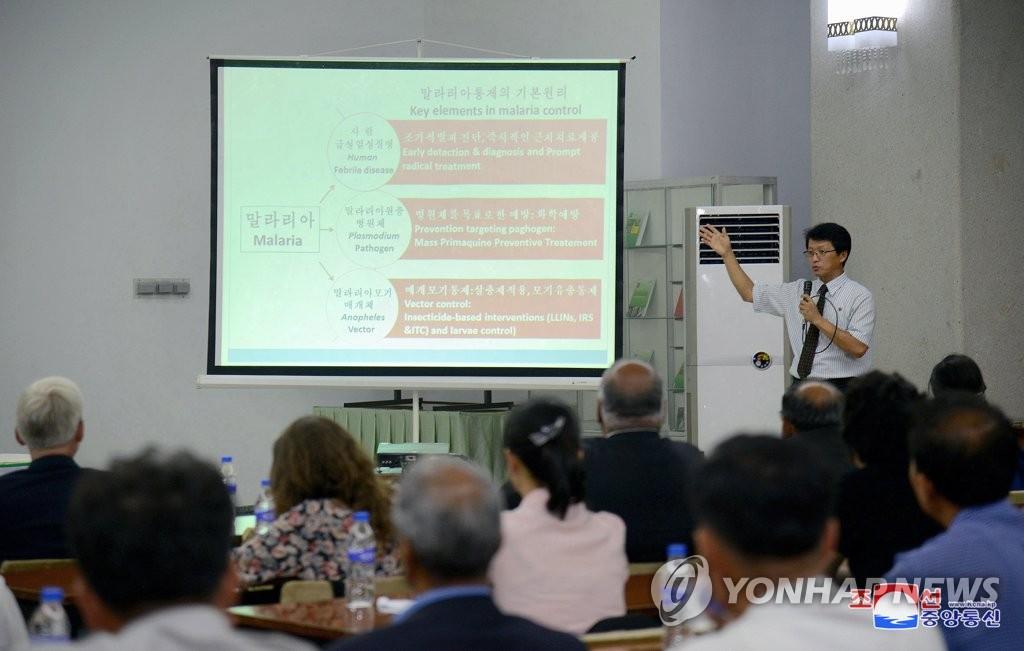 朝鲜举行疟疾日宣传活动