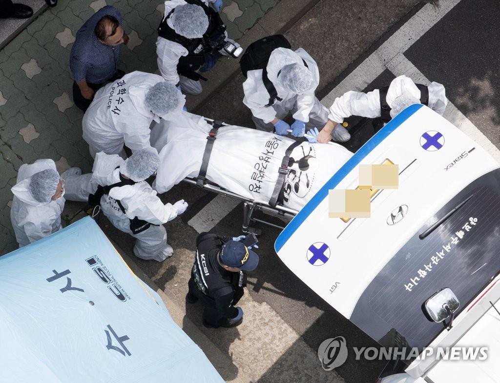 韩正义党党鞭自尽现场