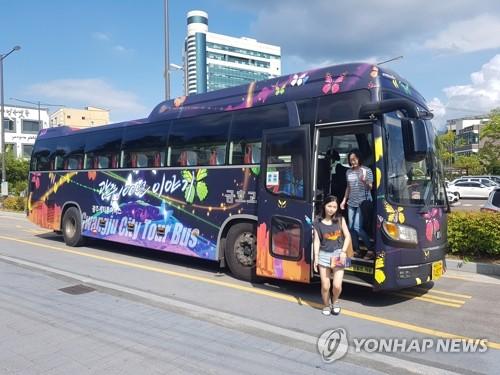光州世游赛:为外国人运行都市旅游巴士