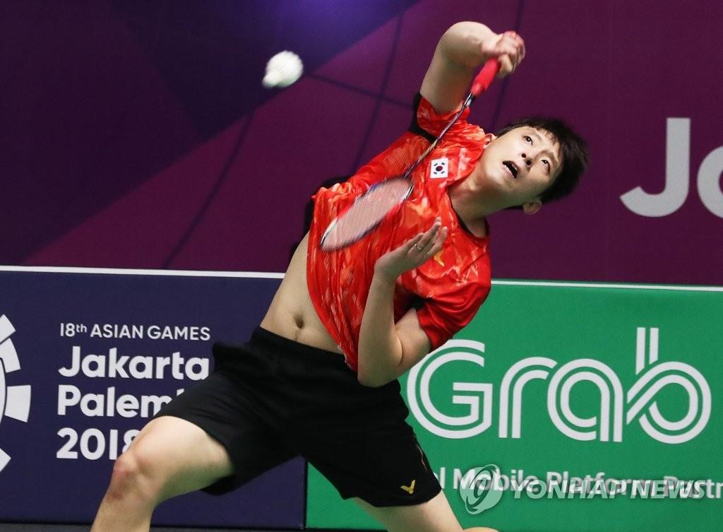 韩国选手许侊熙挺进东奥羽毛球男单八强