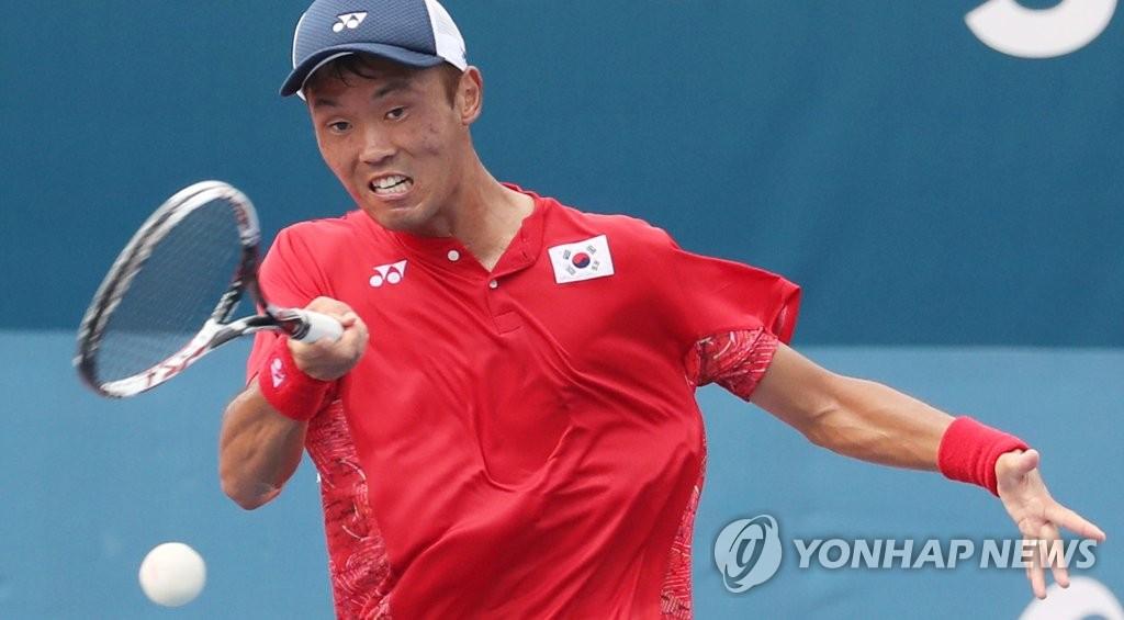 亚运软式网球男单 韩国金振雄夺金