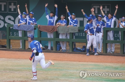 亚运棒球四强循环赛韩国5比1胜日本