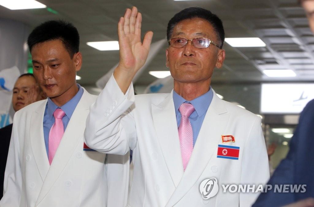 2018射击世锦赛朝方代表团抵韩
