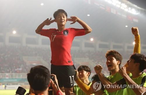 李昇祐打入韩日战首球