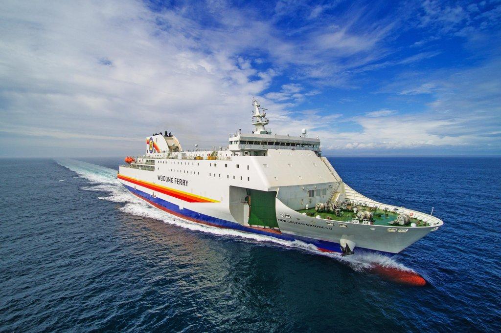 统计:仁川至中国客滚船客运量去年增三成多