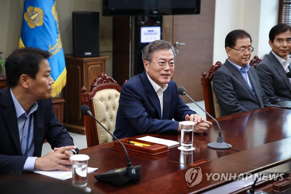 韩总统访朝随行团规模较前减少