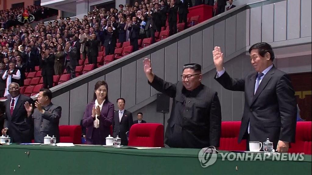 朝媒报道金正恩致谢民众参加建政庆典