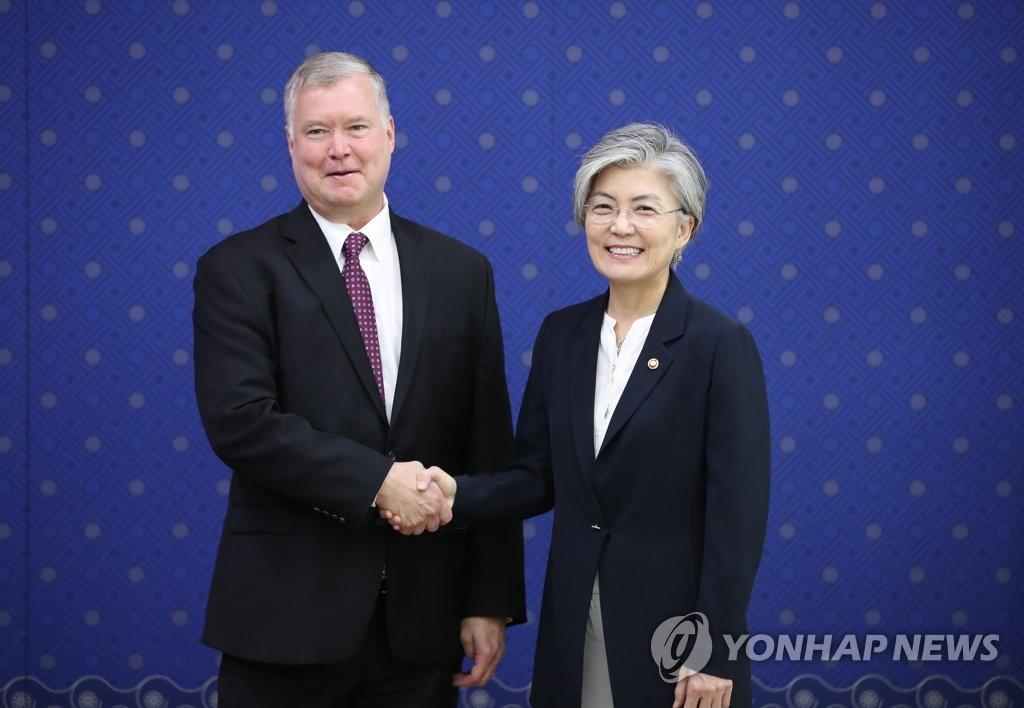 韩外长接见美对朝代表强调务实推进无核化