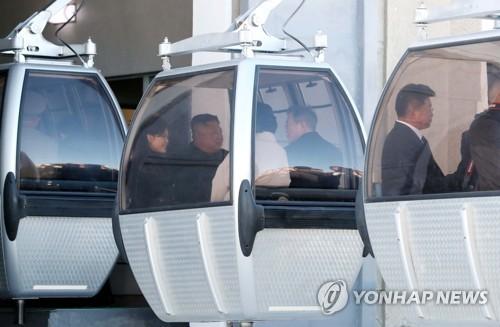 韩朝首脑共赴天池