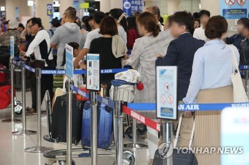 统计:2018年韩国出入境人数同比增10.6%
