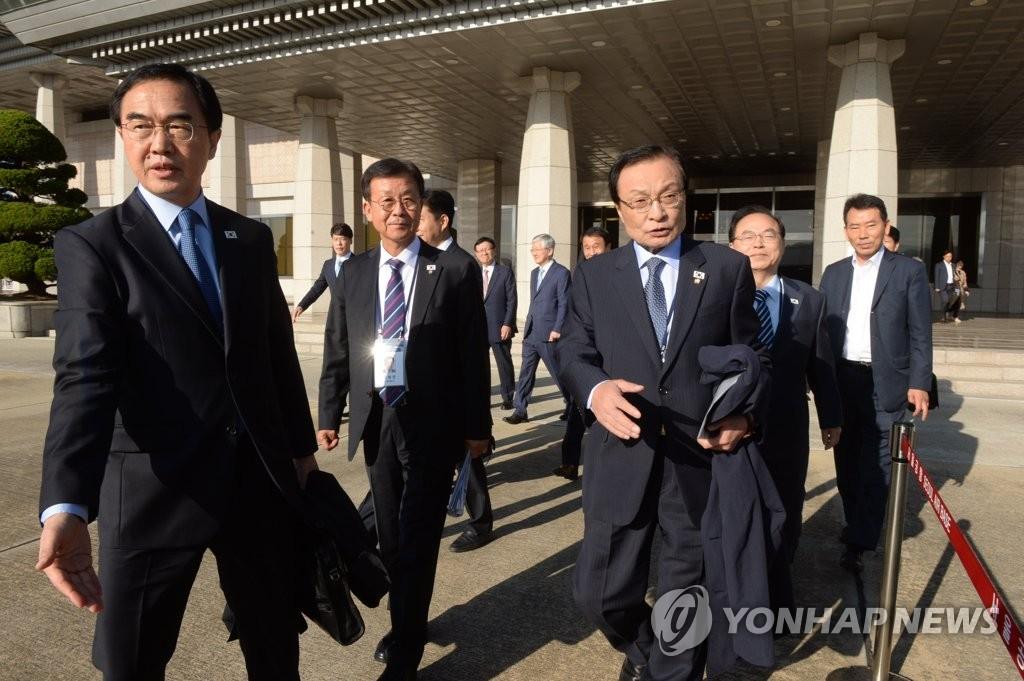 韩代表团启程赴朝出席《10·4宣言》纪念仪式