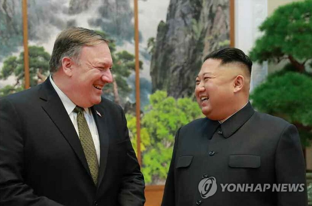 朝媒报道金正恩会见美国务卿蓬佩奥消息