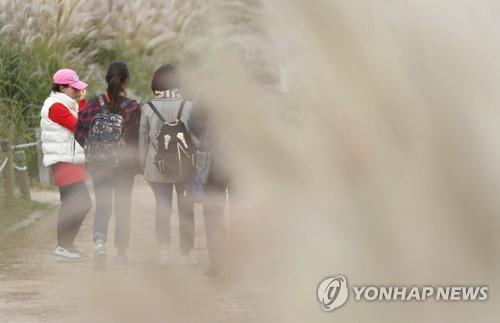 韩国多地降温 部分地区气温骤降10℃
