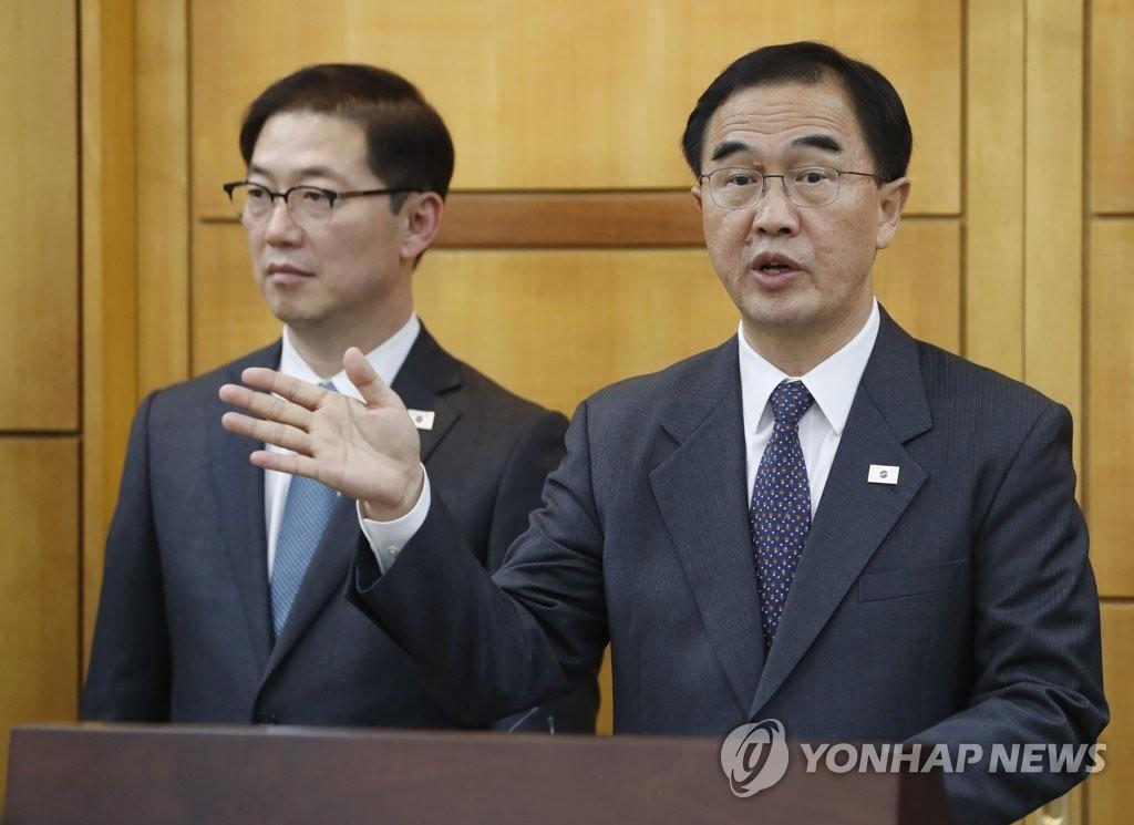 韩统一部长官或与脱北者团体会面