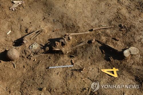 韩朝非军事区内发现一具中国志愿军遗骸