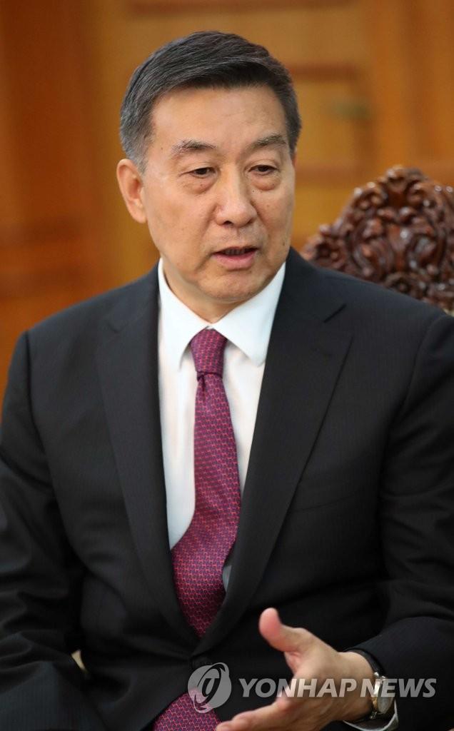 资料图片:中国国务委员王勇(韩联社)