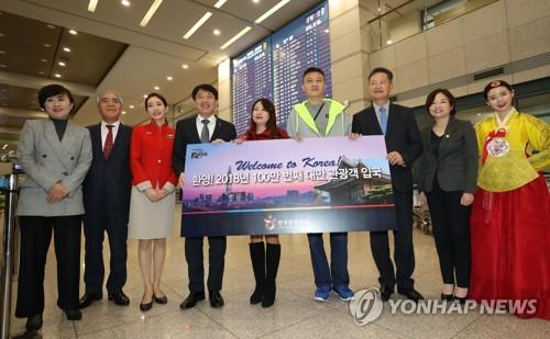 韩10月接待外国游客同比增三成