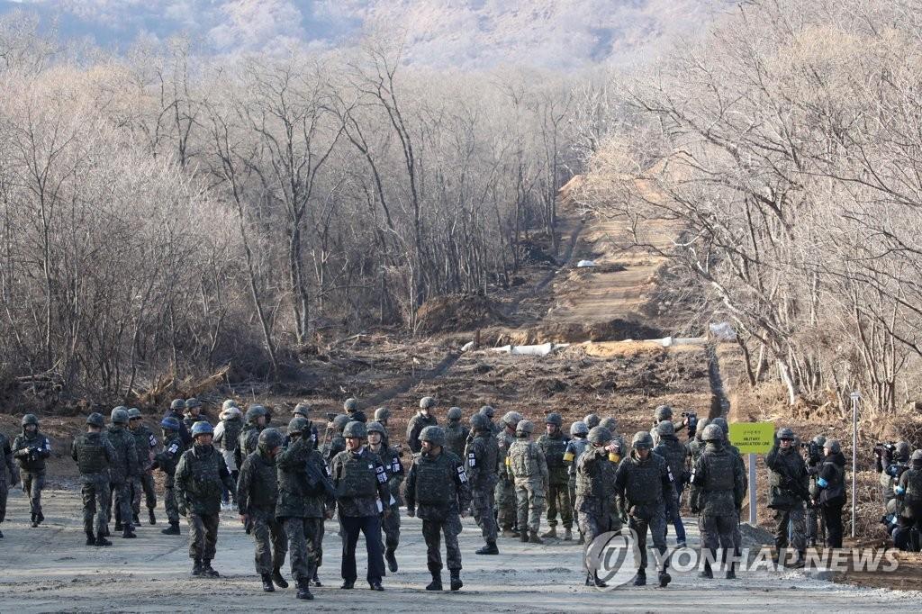 朝鲜设哨所监视韩方遗骸挖掘情况