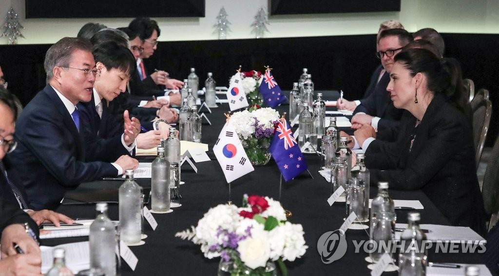 韩国-新西兰首脑会谈现场(韩联社)