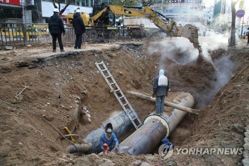 韩国供暖事故频发 主管单位排查管道隐患