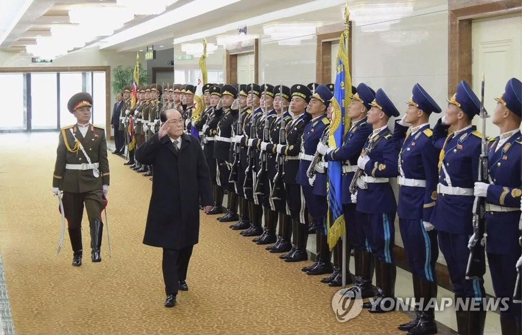 朝鲜领导人金永南出访归来