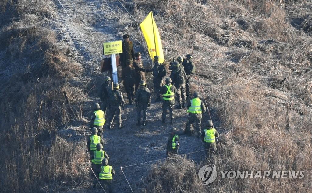 韩对朝方边防哨所拆除情况检查完毕