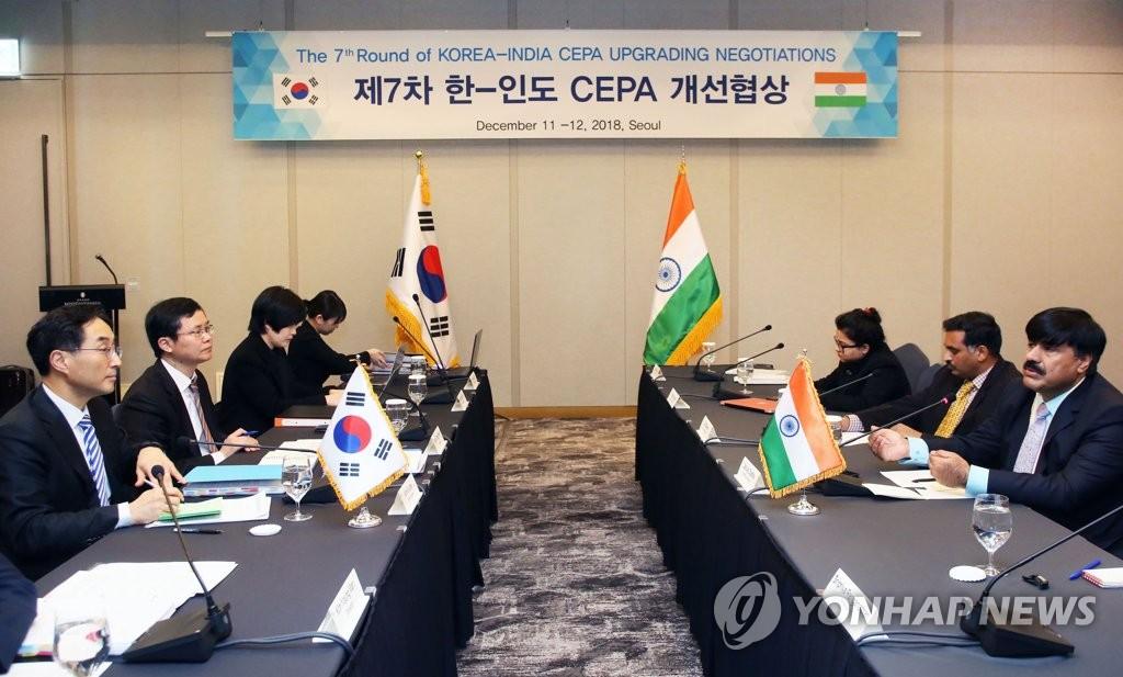 韩印CEPA生效9年韩对印出口增四成