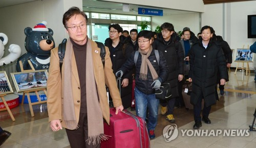 赴朝考察东海线铁路韩方人员返回