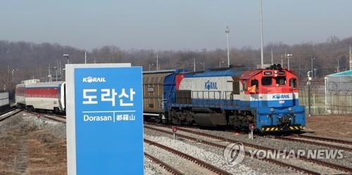 赴朝考察列车回韩