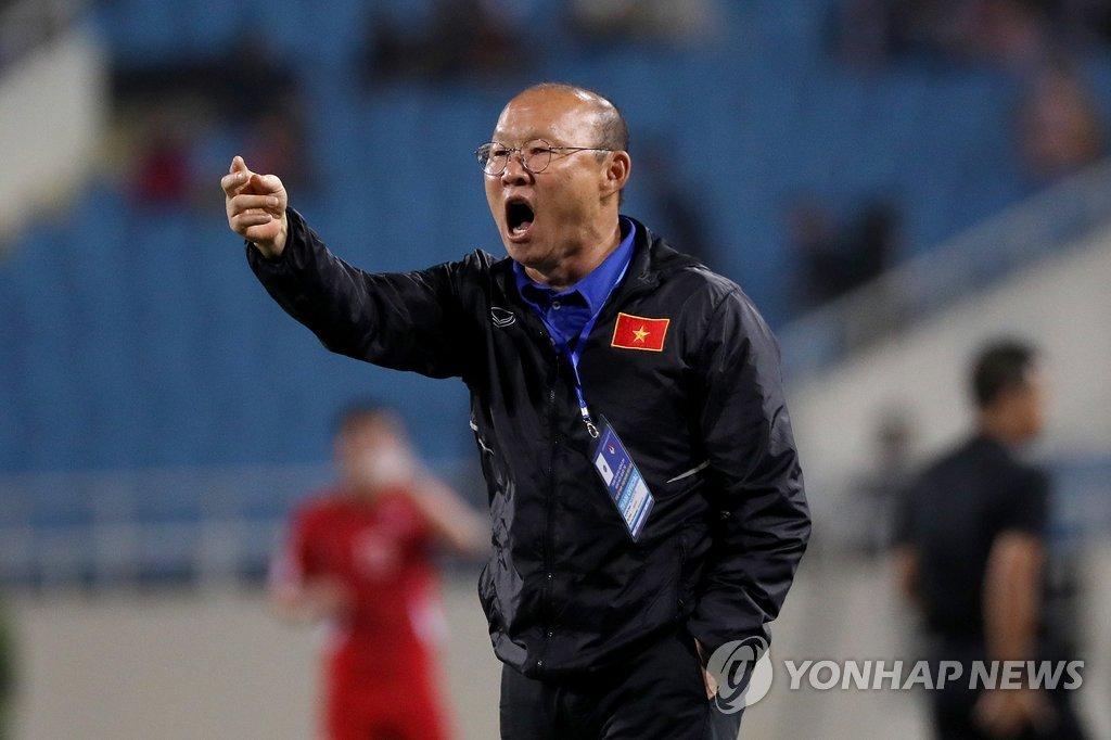越南主教练朴恒绪(韩联社/欧新社)