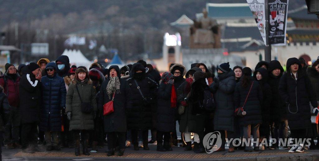韩国遭遇最强寒潮 首尔体感温度零下19.3度