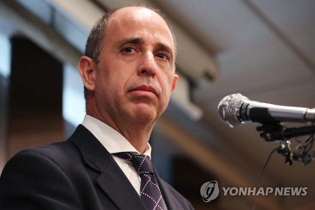 资料图片:联合国朝鲜人权特别报告员金塔纳 韩联社